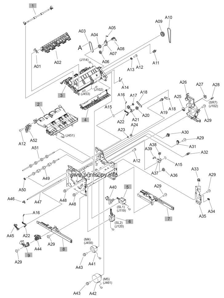 Parts Catalog > HP > LaserJet Enterprise MFP M630 > page 22