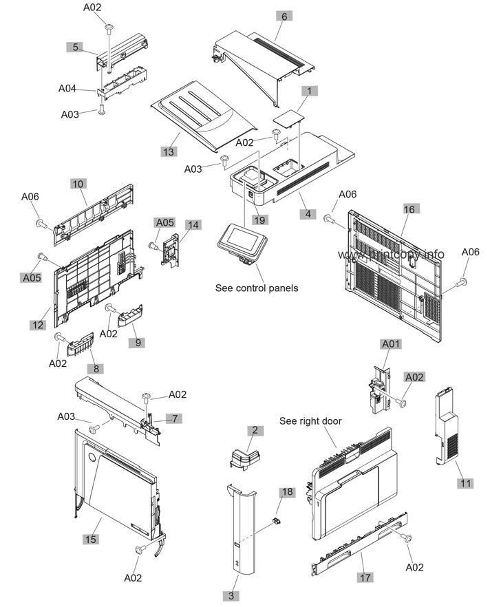 Parts Catalog > HP > Color LaserJet Enterprise MFP M680