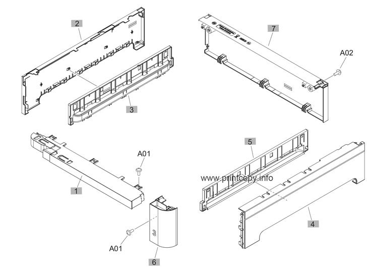 Parts Catalog > HP > Color LaserJet Enterprise M651 > page 17