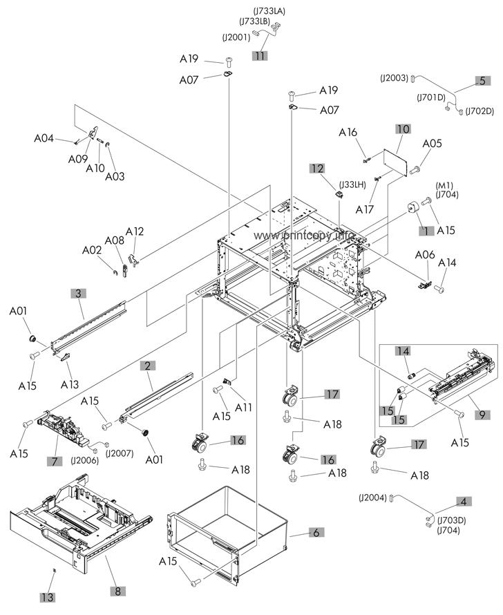 Parts Catalog > HP > LaserJet Enterprise 700 M712 > page 9