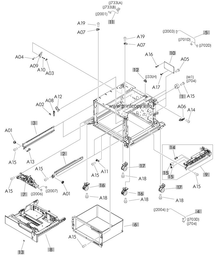 Parts Catalog > HP > LaserJet M725dn Enterprise 700 MFP