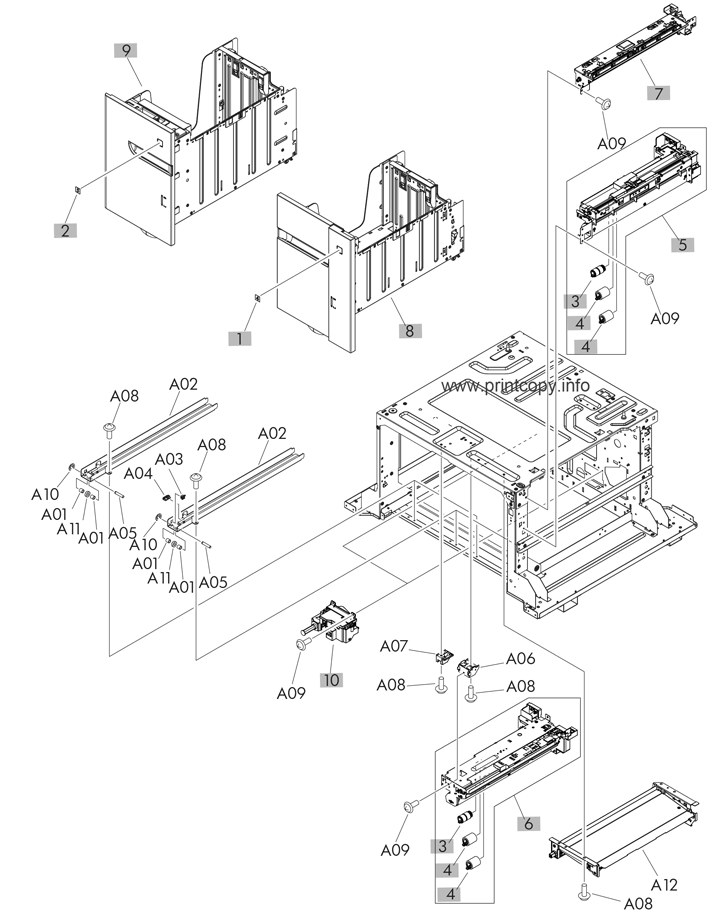 Parts Catalog > HP > LaserJet Enterprise 700 M725 MFP