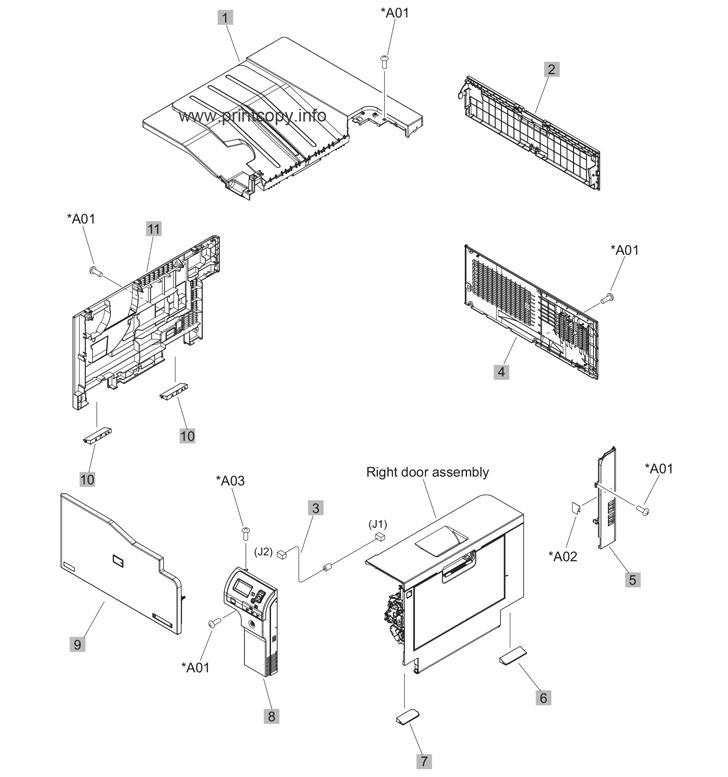 Parts Catalog > HP > Color LaserJet Enterprise M750 > page 1