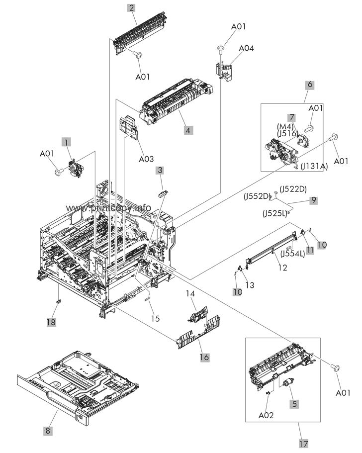 Parts Catalog > HP > LaserJet Enterprise 700 M775 color