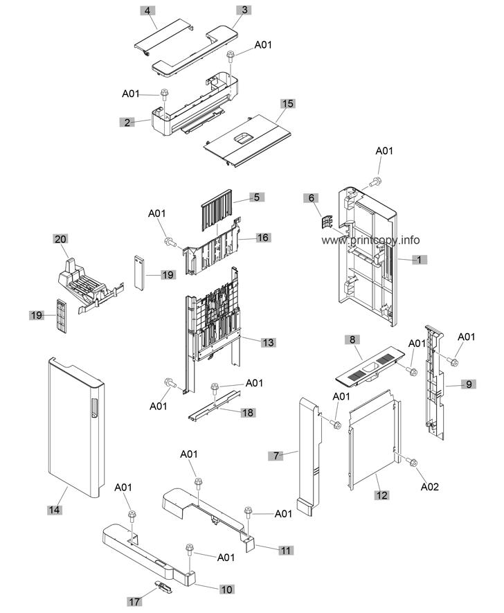 Parts Catalog > HP > LaserJet M806dn Enterprise > page 14