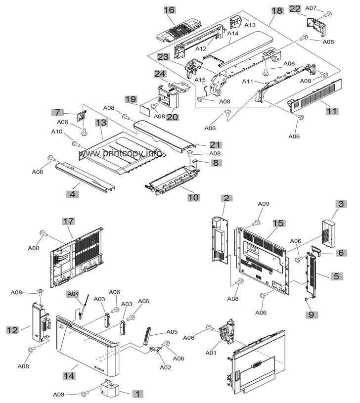 Parts Catalog > HP > LaserJet Enterprise Flow MFP M880