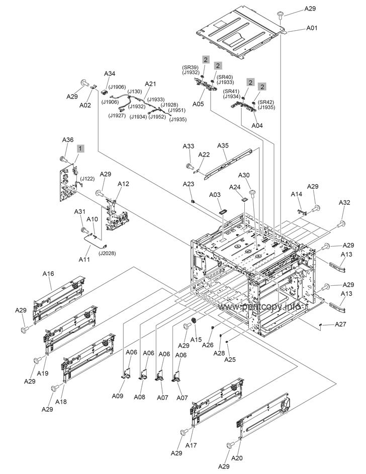 Parts Catalog > HP > LaserJet M880z Enterprise Flow MFP