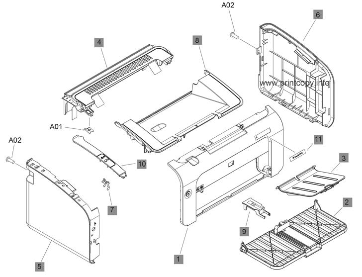 Parts Catalog > HP > LaserJet Professional P1102 > page 1