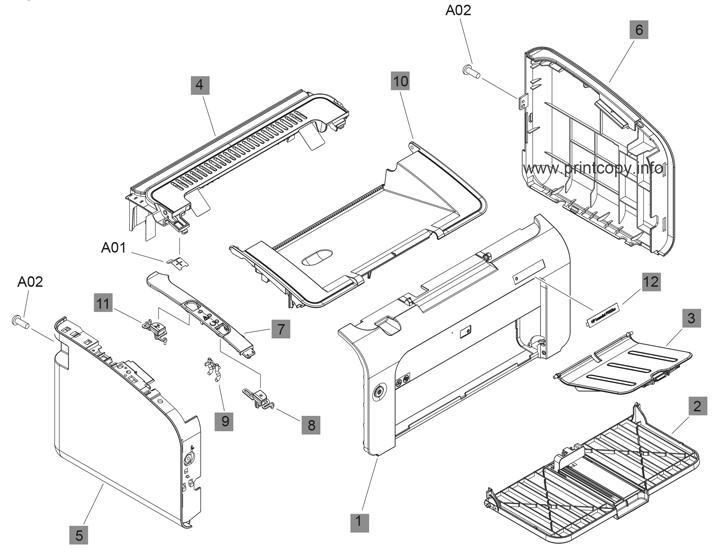 Parts Catalog > HP > LaserJet Professional P1102 > page 2