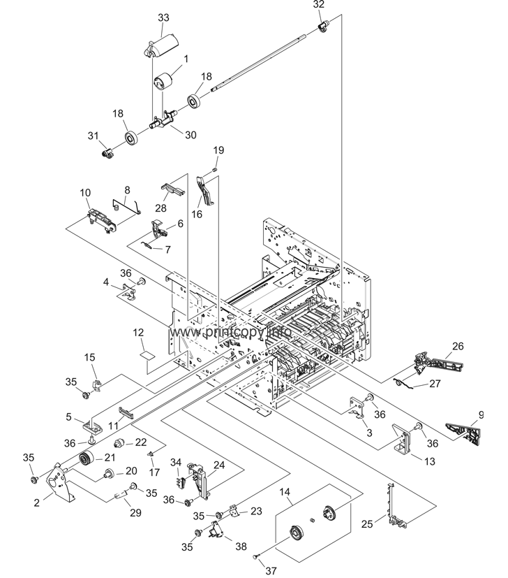 Parts Catalog > HP > LaserJet P2015 > page 8