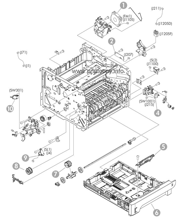 Parts Catalog > HP > LaserJet P2055dn > page 6