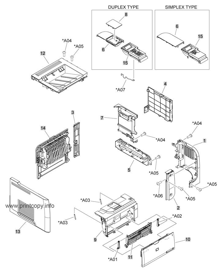 Parts Catalog > HP > LaserJet P3015 > page 1
