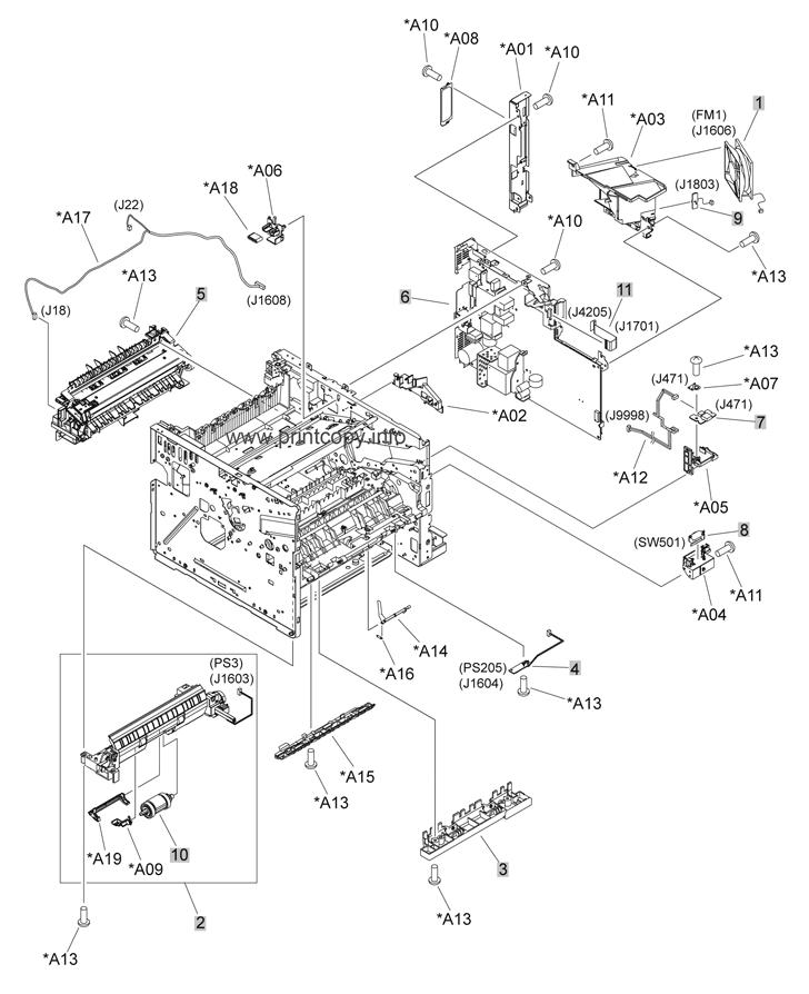 Parts Catalog > HP > LaserJet P3015 > page 6