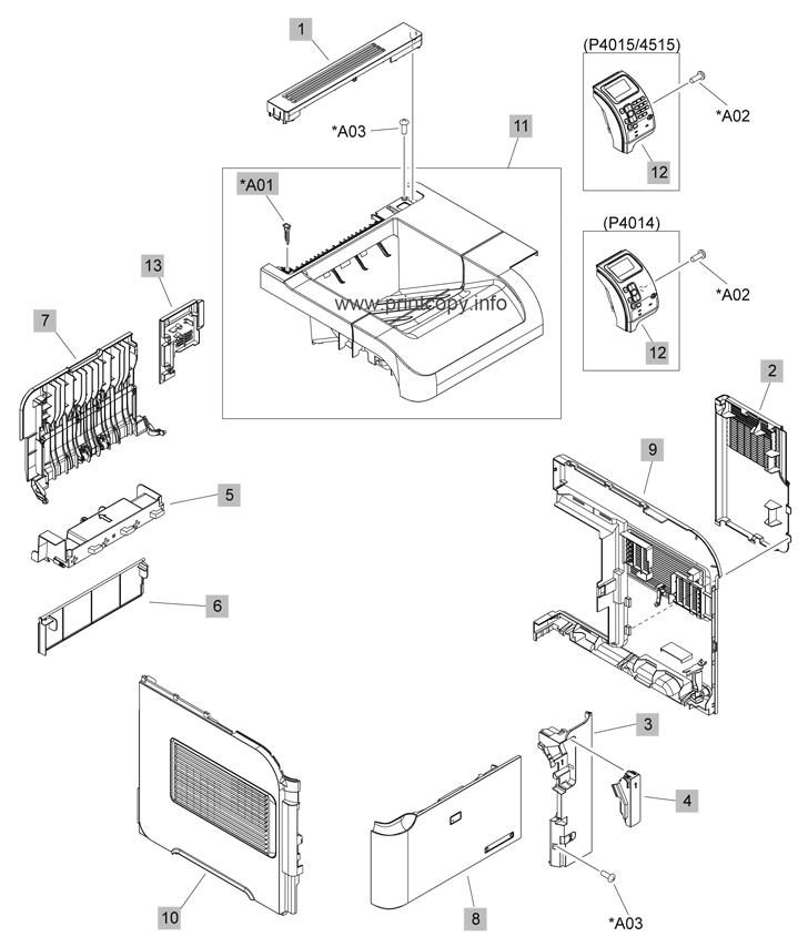 Parts Catalog > HP > LaserJet P4015 > page 1