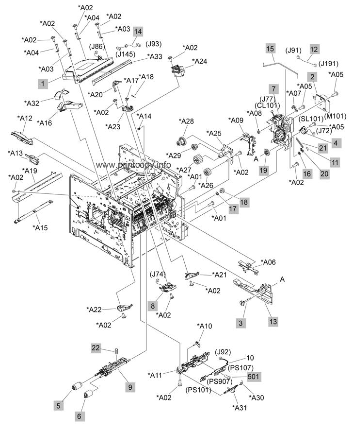 Parts Catalog > HP > LaserJet P4015n > page 3