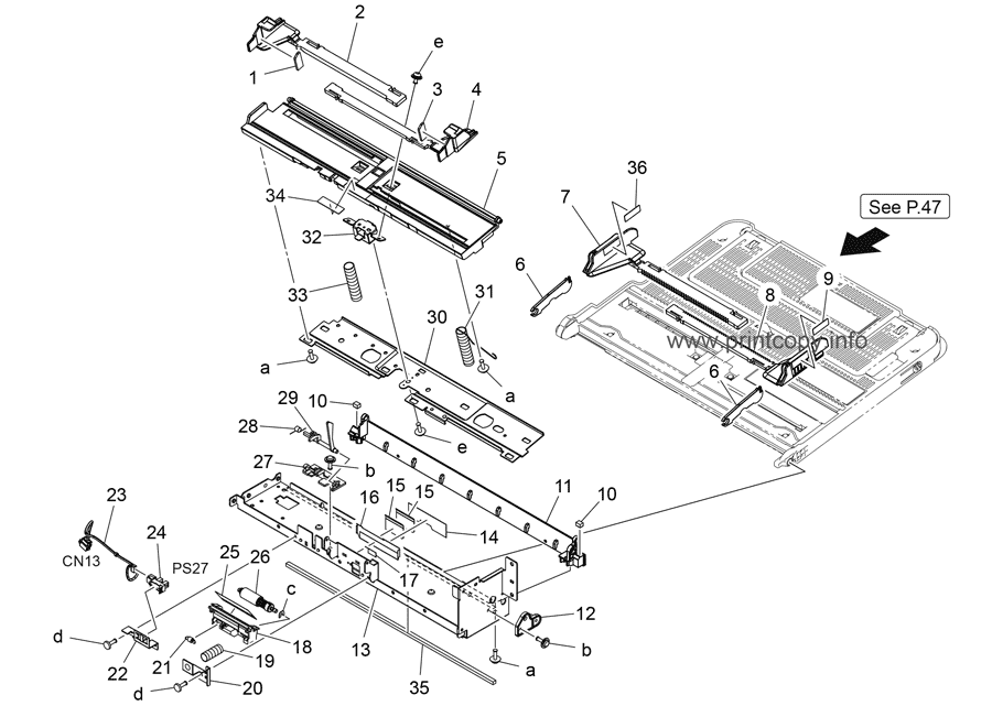 Parts Catalog > Konica-Minolta > bizhub 458e > page 46
