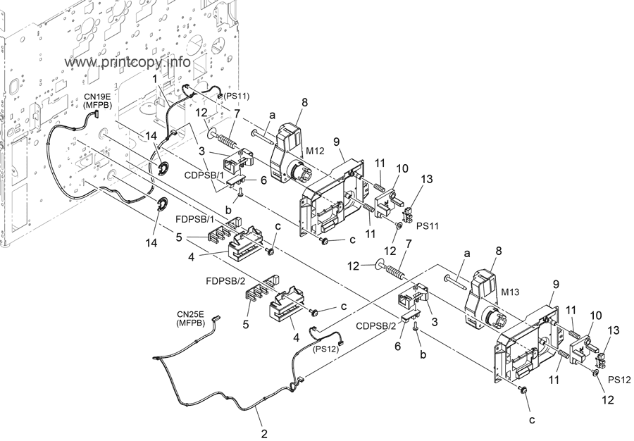 Parts Catalog > Konica-Minolta > bizhub 558e > page 36