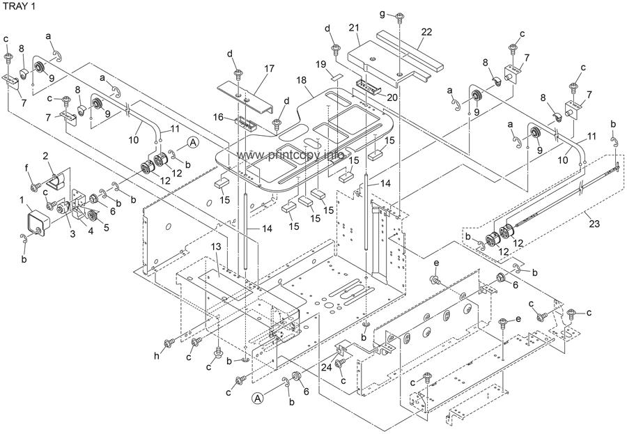 Parts Catalog > Konica-Minolta > bizhub 601 > page 75