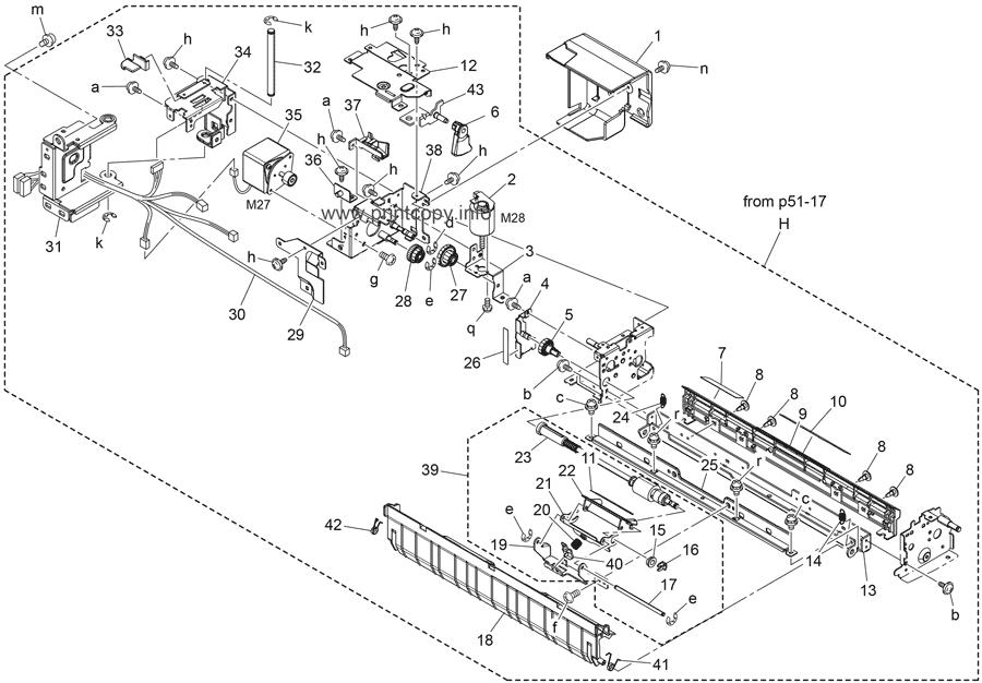Parts Catalog > Konica-Minolta > bizhub 654e > page 54