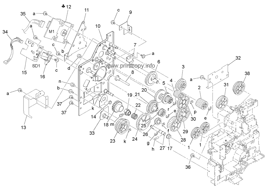 Parts Catalog > Konica-Minolta > bizhub 163 > page 19