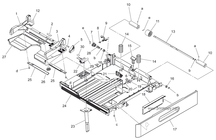 Parts Catalog > Konica-Minolta > bizhub 215 > page 16