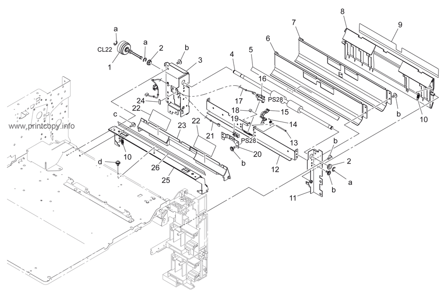 Parts Catalog > Konica-Minolta > bizhub 223 > page 15