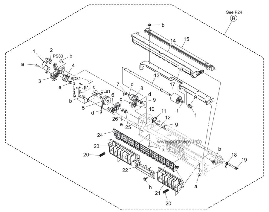 Parts Catalog > Konica-Minolta > bizhub 283 > page 25