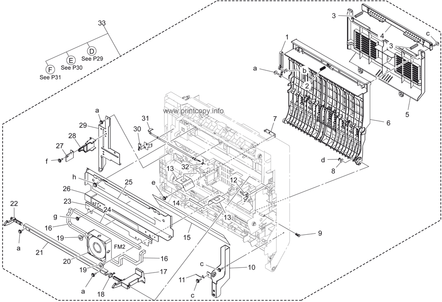 Parts Catalog > Konica-Minolta > bizhub 423 > page 28