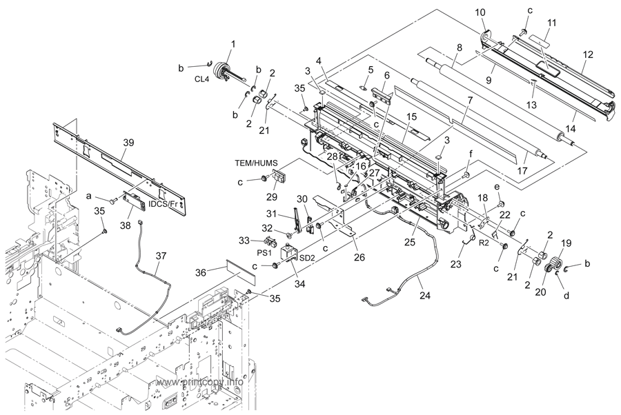Parts Catalog > Konica-Minolta > bizhub 364e > page 27