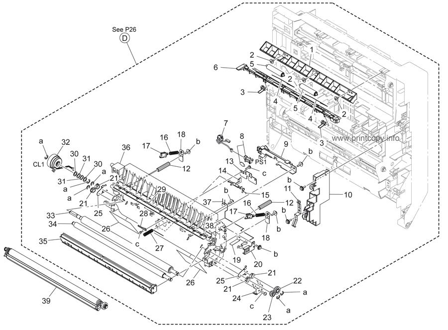 Parts Catalog > Konica-Minolta > bizhub 36 > page 27