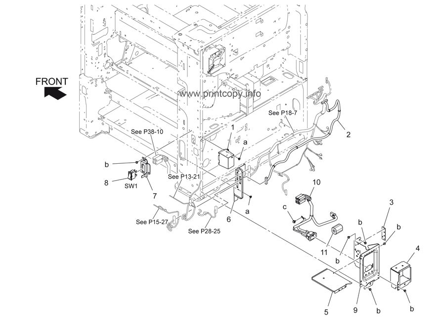 Parts Catalog > Konica-Minolta > bizhub 367 > page 38
