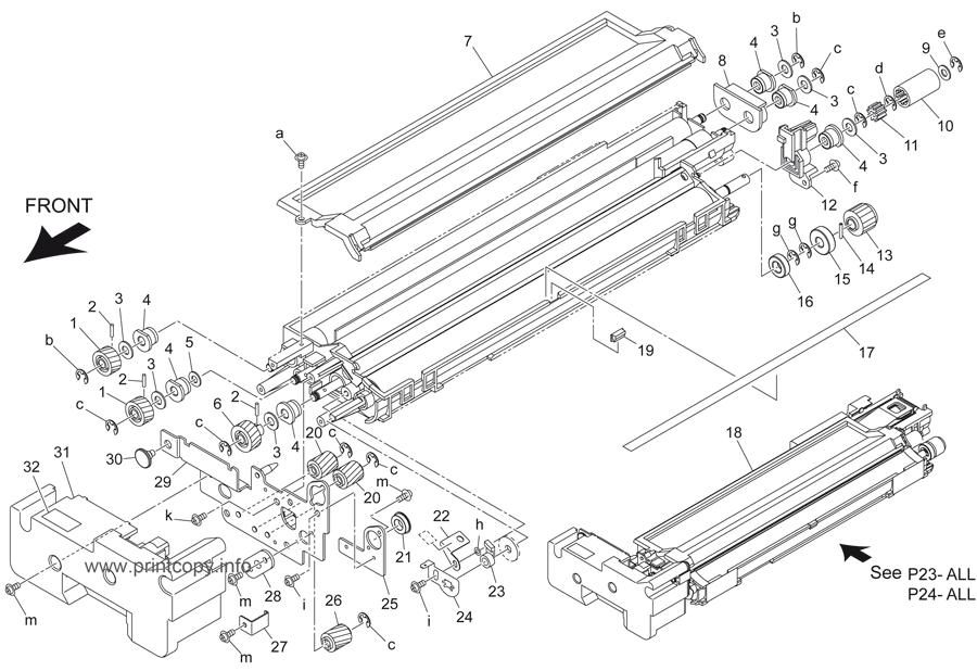 Parts Catalog > Konica-Minolta > bizhub 421 > page 24