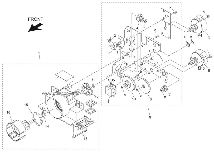 Parts Catalog > Konica-Minolta > bizhub 421 > page 25