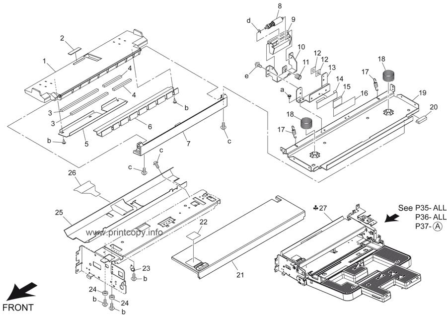 Parts Catalog > Konica-Minolta > bizhub 421 > page 35