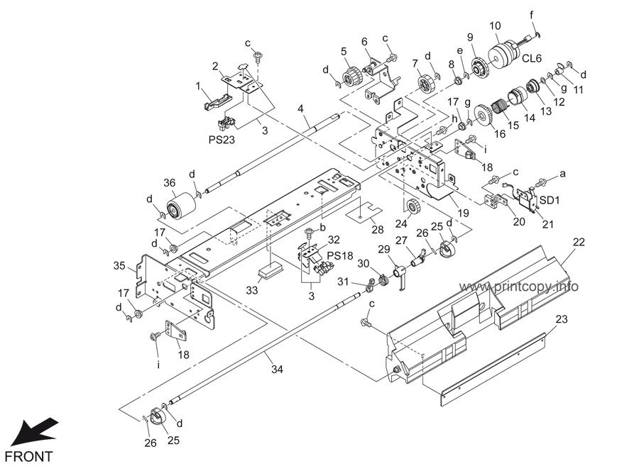 Parts Catalog > Konica-Minolta > bizhub 501 > page 36