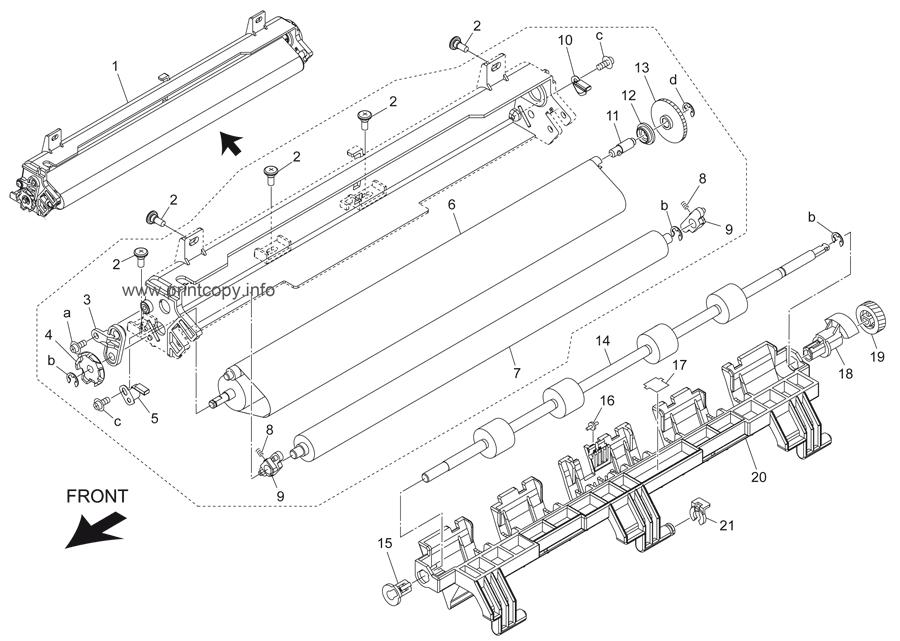 Parts Catalog > Konica-Minolta > bizhub 501 > page 54