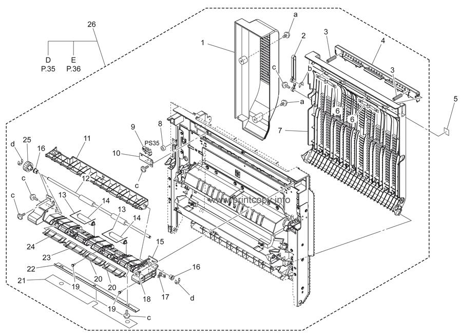 Parts Catalog > Konica-Minolta > bizhub C353 > page 34