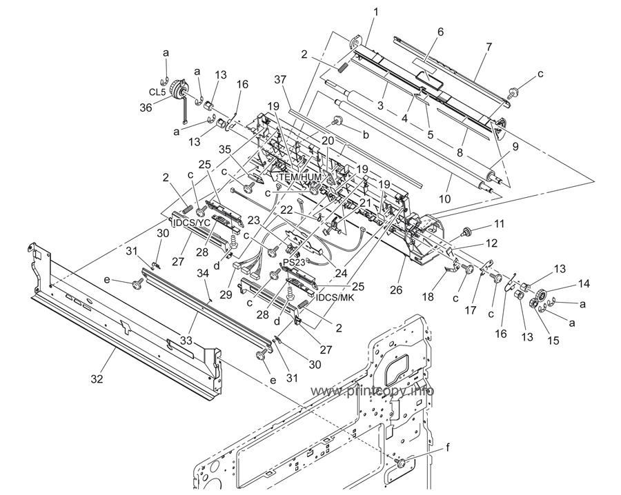 Parts Catalog > Konica-Minolta > bizhub C253 > page 38