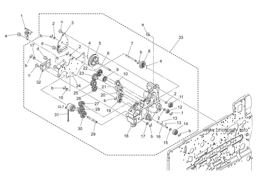 Parts Catalog > Konica-Minolta > bizhub C253 > page 43