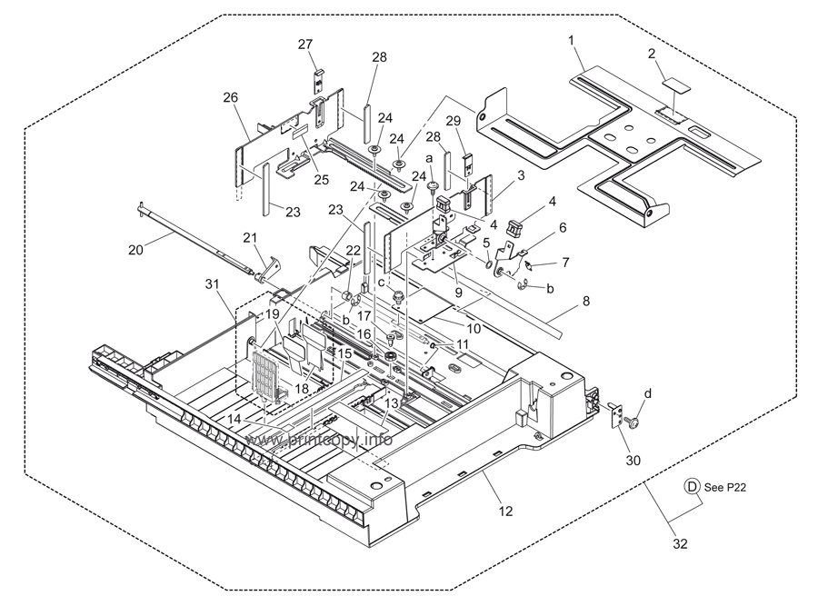 Parts Catalog > Konica-Minolta > bizhub C220 > page 21