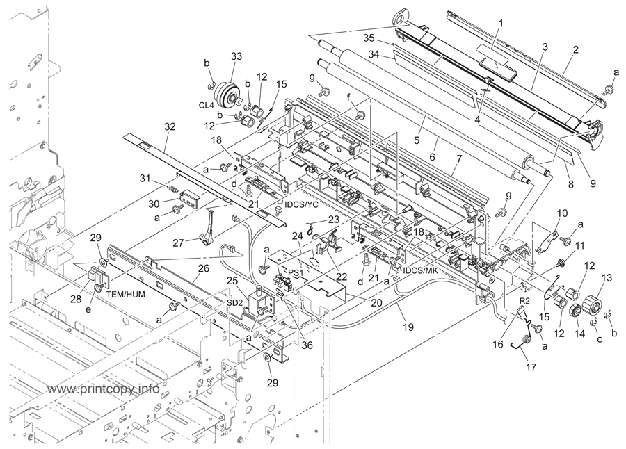 Parts Catalog > Konica-Minolta > bizhub C220 > page 33
