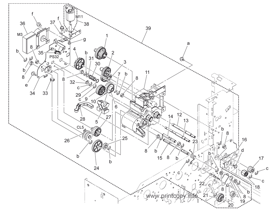 Parts Catalog > Konica-Minolta > bizhub C220 > page 37