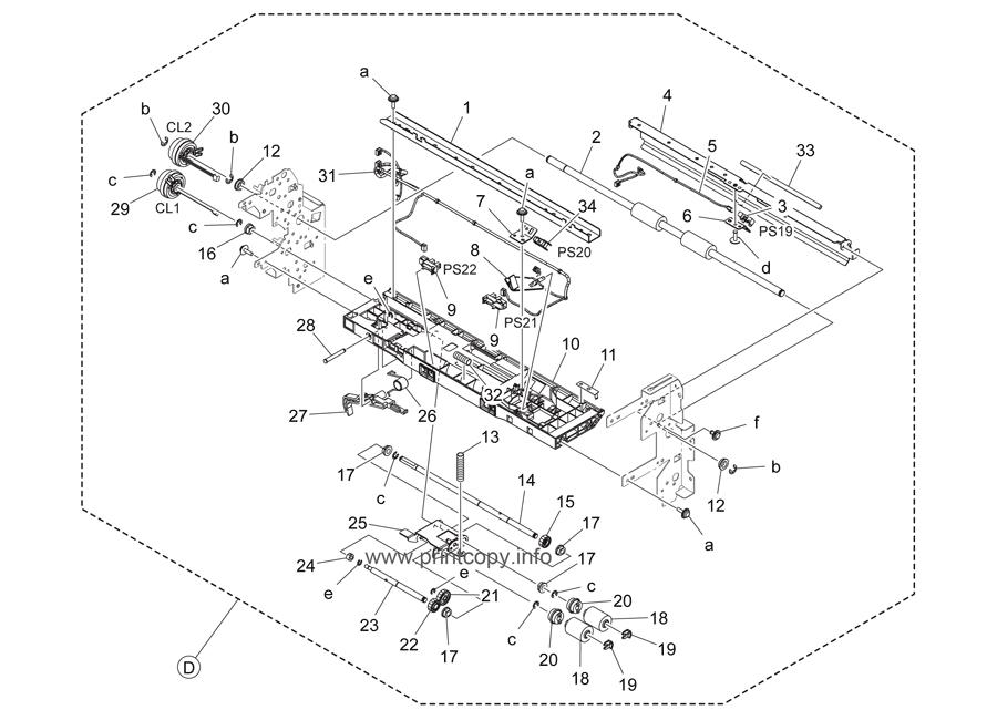 Parts Catalog > Konica-Minolta > bizhub C284 > page 19