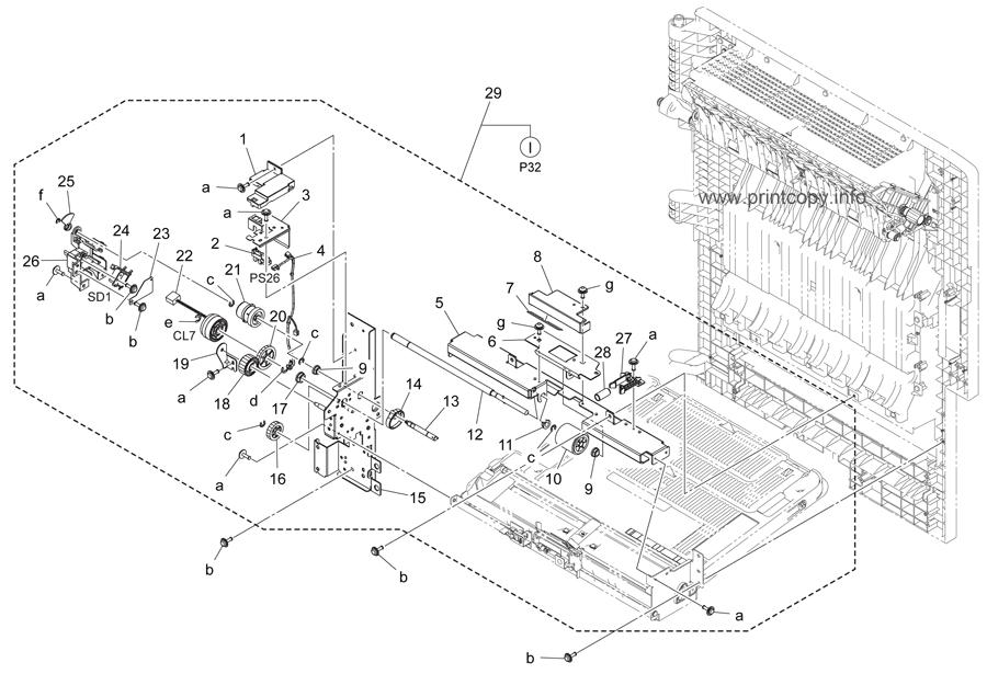 Parts Catalog > Konica-Minolta > bizhub C364 > page 31