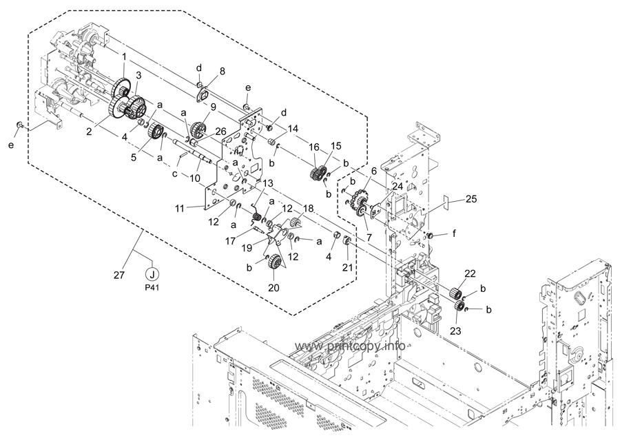 Parts Catalog > Konica-Minolta > bizhub C364 > page 40