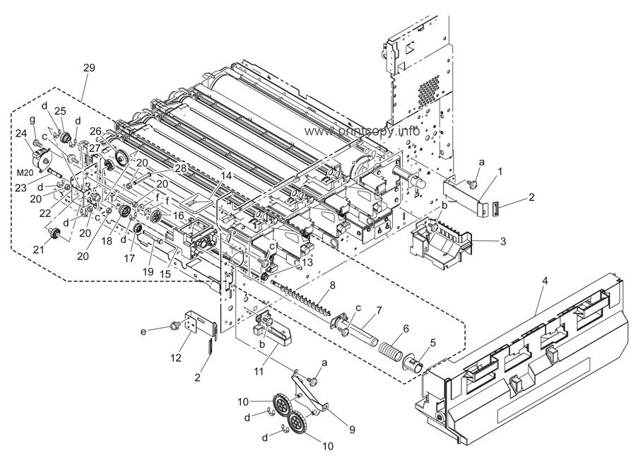 Parts Catalog > Konica-Minolta > bizhub C451 > page 21