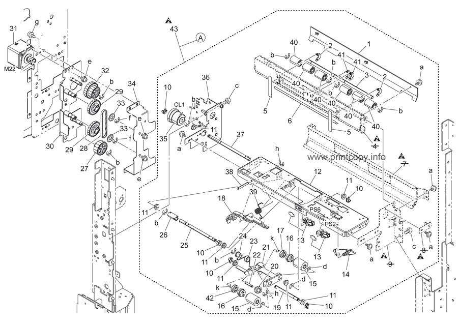Parts Catalog > Konica-Minolta > bizhub C451 > page 22