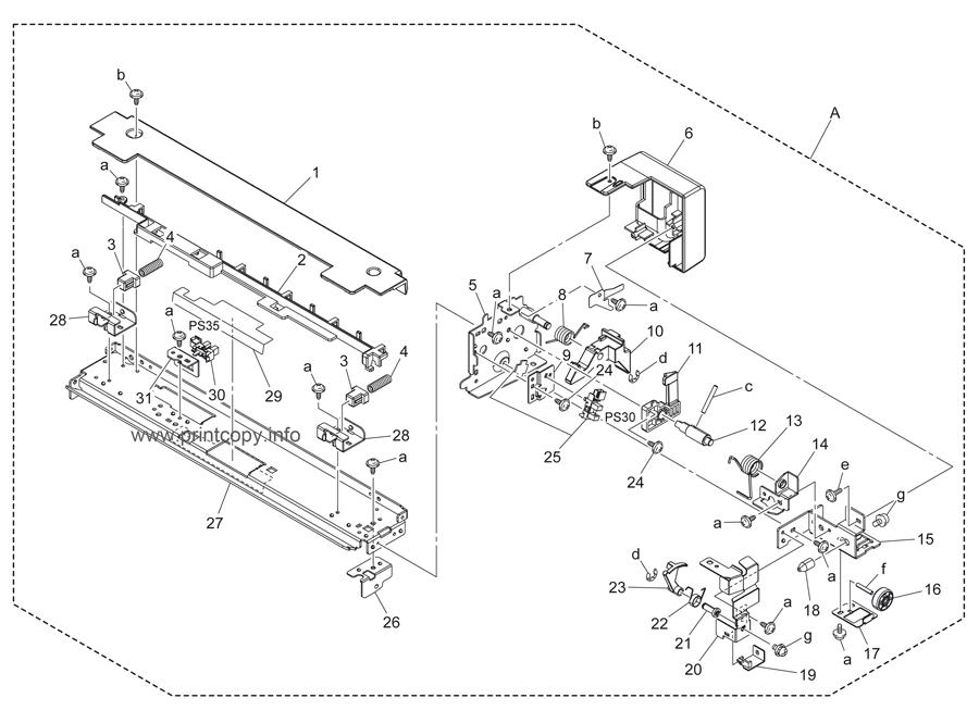 Parts Catalog > Konica-Minolta > bizhub C451 > page 43