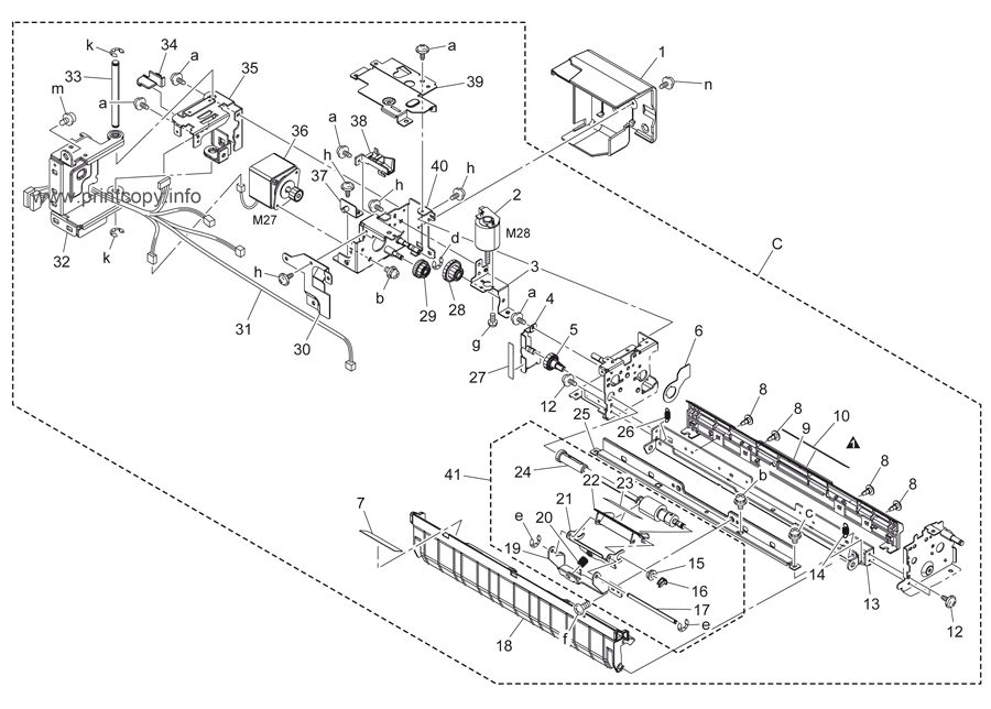 Parts Catalog > Konica-Minolta > bizhub C451 > page 45