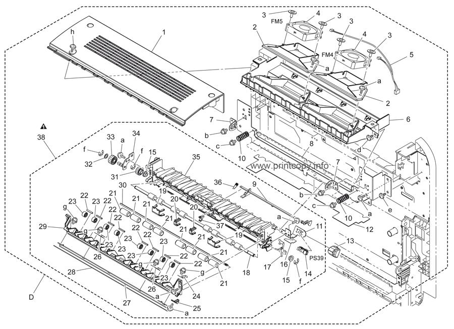Parts Catalog > Konica-Minolta > bizhub C451 > page 54